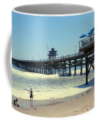 Beach View With Pier 1 Coffee Mug