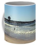 Beach View With Pier 2 Coffee Mug by Ben and Raisa Gertsberg