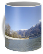 Beach With Mountain Coffee Mug