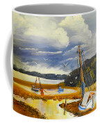 Beached Boat And Fishing Boat At Gippsland Lake Coffee Mug