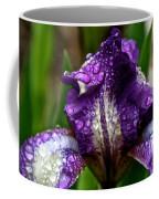 Beaded Iris Coffee Mug