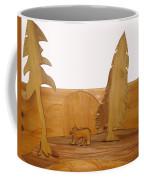 Bear Between Two Trees Coffee Mug