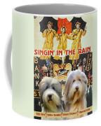 Bearded Collie Art Canvas Print - Singin In The Rain Movie Poster Coffee Mug
