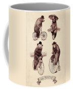 Bears On Bicycles Coffee Mug by Eric Fan