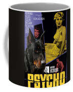 Beauceron Art Canvas Print - Psycho Movie Poster Coffee Mug