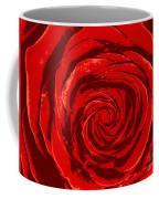 Beautiful Abstract Red Rose Illustration Coffee Mug