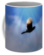 Beautiful Blue Jay In Flight Silhouette Coffee Mug