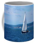 Beautiful Boat Sailing At Puget Sound Coffee Mug