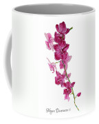 Beautiful Burgundy Orchid Flower Original Floral Painting Pink Orchid I By Megan Duncanson Madart Coffee Mug