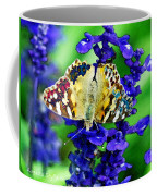 Beautiful Butterfly On A Flower Coffee Mug