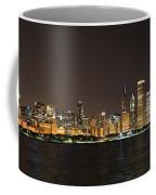 Beautiful Chicago Skyline With Fireworks Coffee Mug