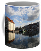 Beautiful Clouds Over Motlawa River - Gdansk Coffee Mug