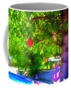 Beautiful Colored Glass Ball Hanging On Tree 1 Coffee Mug