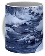 Beautiful Creek In Winter In Stanley Idaho Coffee Mug