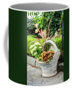 Beautiful Flowers In Basket Coffee Mug