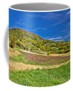 Beautiful Green Hill With Vineyard Cottages Coffee Mug