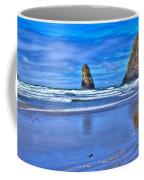 Beautiful Haystack Rock And The Needles Coffee Mug by David Patterson