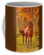 Beautiful Horse In The Autumn Aspen Colors Coffee Mug by James BO  Insogna