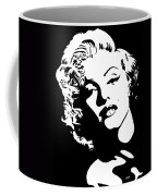 Beautiful Marilyn Monroe Original Acrylic Painting Coffee Mug