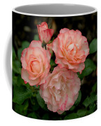 Beautiful Peach Roses Coffee Mug
