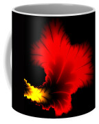 Beautiful Red And Yellow Floral Fractal Artwork Square Format Coffee Mug
