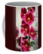 Beautiful Red Hollyhock Coffee Mug by Robert Bales