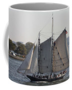 Beautiful Sailboat In Manhattan Harbor Coffee Mug