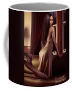 Beautiful Sexy Black Woman Near A Window Coffee Mug