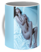Beautiful Sexy Nude Woman Lying On White Sheets Coffee Mug