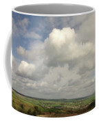 White Clouds Over Yorkshire Dales Coffee Mug