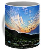 Beautiful Sky Over The Harbour Digital Painting Coffee Mug