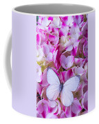 Beautiful White Butterfly Coffee Mug