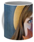 Young Woman And Leaf Coffee Mug