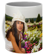 Beautiful Young Woman In Paris Coffee Mug