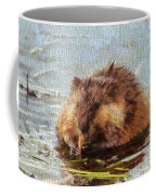 Beaver Portrait On Canvas Coffee Mug
