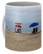 Beach Chairs Panorama Hilton Head  Coffee Mug