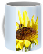 Bee And Flower Coffee Mug by Les Cunliffe