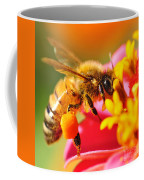 Bee Laden With Pollen 2 By Kaye Menner Coffee Mug