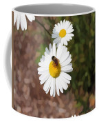 Bee On A Daisy Coffee Mug