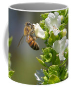 Bee On Basil Coffee Mug