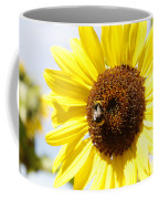Bee On Flower Coffee Mug by Les Cunliffe