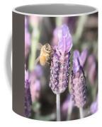 Bee On Lavender Square Coffee Mug