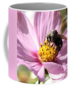 Bee On Pink Cosmos Coffee Mug