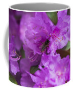 Bee On Rhododendrons Coffee Mug
