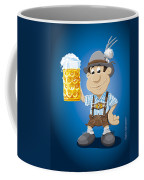 Beer Stein Lederhosen Oktoberfest Cartoon Man Coffee Mug