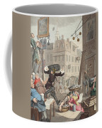 Beer Street, Illustration From Hogarth Coffee Mug