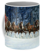 Clydesdales 8 Hitch On A Snowy Day Coffee Mug