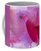 Beetle On A Rose Coffee Mug