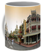 Before The Gates Open Early Morning Magic Kingdom With Castle. Coffee Mug