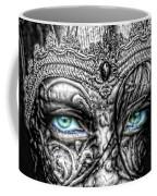 Behind Blue Eyes Coffee Mug by Mo T